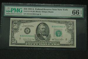 1981 A Fr 2121-B $50 PMG 66 EPQ Superb Gem New York
