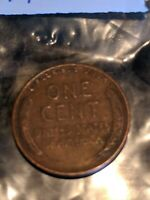 1944-D Lincoln Wheat penny, WWII Shell Casing, *SPECIAL SALE* HARD MINT TO FIND