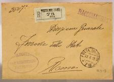 POSTA MILITARE 78 RACCOMANDATA TIMBRI 143° REGGIMENTO FANTERIA 22.7.1919 #XP421P
