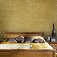 Wallpaper gold metallic Textured Plain Modern faux metal wallcoverings rolls 3D