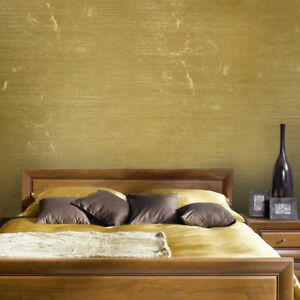 Wallpaper gold metallic Textured Plain Modern faux metal wallcoverings rolls 3D