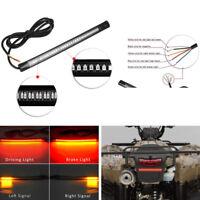 "8"" Motorcycle 48 LED Flexible Strip Light Tail Brake Stop Turn Signal Amber Red"