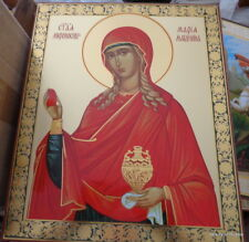 Russian  icon  Mary Magdalene     15.6x13 inches  huge
