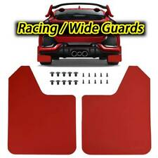2x Universal Red Mud Flaps Mudguards Splash Guards For Car Pickup Van Truck