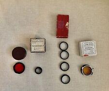 Large lot of Vintage camera lens
