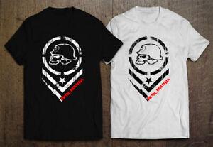 Metal Mulisha Logo Men's Black and White T-shirt Size S-2XL