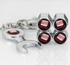 4pcs Zinc Alloy Auto Car Reifen Ventilkappen + Wrench schlüsselanhänger für NEU