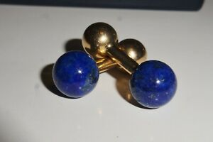 Tiffany & Co Vintage Lapis & Gold Cufflinks