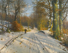 Monsted Mork Peder Winter Landscape Canvas 16 x 20    #6840