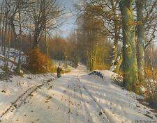 Monsted Mork Peder Winter Landscape Canvas 16 x 20    #6840