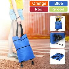 Women Foldable Shopping Cart Bag Portable Shopping Trolley Bag With Wheel