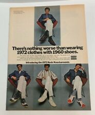 1972 Keds Knockarounds Tennis Shoes Sneakers By Uniroyal Nothing Worse Print Ad