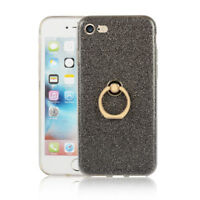 Lot Thin Soft TPU Skin Stand Ring Back Glitter Protective Case Cover For Phone