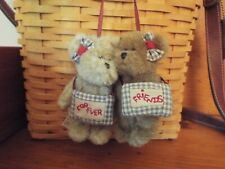 New with Tag Adorable Gen-yoo-wine Boyds Bears Forever Friends Plush Bears
