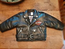 Born to ride Harley Davidson Toddler Faux Leather Jacket