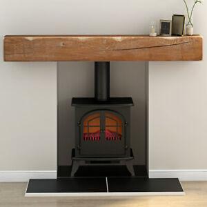 House Rustic Solid Oak Floating Beam Mantel Mantelpiece Shelf Fire Surround