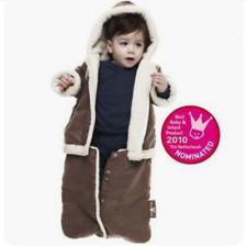 WallaBoo Baby Boy 2 In 1 Brown Hooded Winter Sack / Detachable Zip Up Jacket