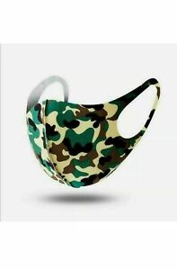 Reusable Face Mask Virus Dust Protection Washable Protective Covering Camouflage