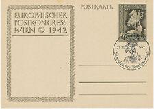 DT.REICH 1942 Sonderkarte zum Europäischen Postkongress in Wien SST WIEN