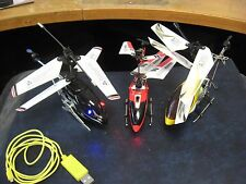 3 Different Syma R/C Radio Controlled Helicopters Untested No Remote