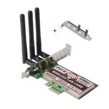 PCI-E Express 450Mbps 2.4G/5G Wireless WiFi 3 Antenna Card w/Low Profile Bracket