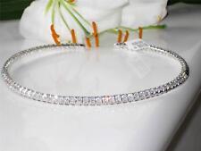 loa829 HIGH END DESIGNER SIMULATED DIAMOND TENNIS NECKLACE CHOKER 16INCH 41CT