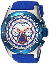 New Invicta 20304 Men's 'Speedway' Chronograph Blue Rubber Strap Watch