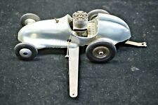 VINTAGE REAL MCCOY CHROME TETHER MODEL RACE CAR WITH .19 GAS ENGINE