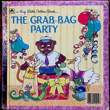 THE GRAB-BAG PARTY ~ Vintage 1980's Children's BIG Little Golden Book