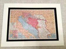 More details for ww1 map print yugoslavia pre great war empire bosnia serbia croatia