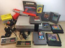 Nintendo NES Console System Bundle Zapper Mario Duck Hunt 8 Games Lot 2 Bad 3