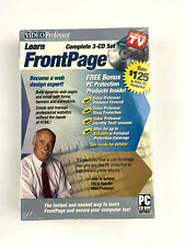Video Professor Learn FrontPage 3 CD Set PC Software P036FP (SEALED)