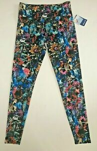 New ONZIE Multicolor Flower Yoga Activewear Legging Running Tights M/L Free Ship