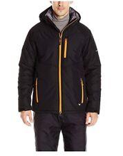 WHITE SIERRA Men's Peak Parka Jacket Coat - BLACK/ORANGE - XL