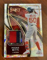 Mookie Betts 2020 Panini Select 3 Color Swatches Jersey Relic Prizm #3/25 Rare