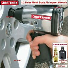 """Craftsman 1/2"""" Drive Air Impact Wrench Classic Metal with Adapters 2 tools in 1"""