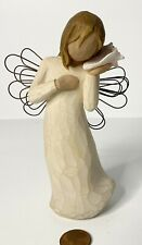 Willow Tree Thinking Of You Angel w/Wings Holding Shell 2004 Figure ~ Euc!