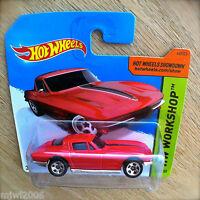 2014 Hot Wheels '64 CORVETTE STING RAY 223/250 HW WORKSHOP Red diecast Chevrolet