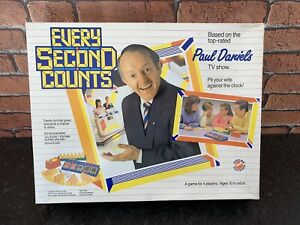 Paul Daniels EVERY SECOND COUNTS 80s TV Boxed Game Complete Excellent Condition