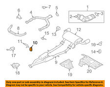 NISSAN OEM Exhaust-Pre-Muffler Resonator & Pipe Rubber Mount 20651AA000
