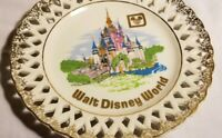 Walt Disney World travel souvenir plate vtg Cinderella's Castle disneyana