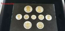 More details for 1953 gb queen elizabeth ii coronation layered silver / gold 9 coins set