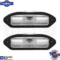 74-77 Camaro Rear License Plate Gas Fuel Door Lamp Light  LENS & GASKET - PAIR