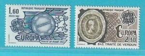 Frankreich Europa CEPT 1982 ** postfrisch MiNr. 2329-2330 Historische Ereignisse