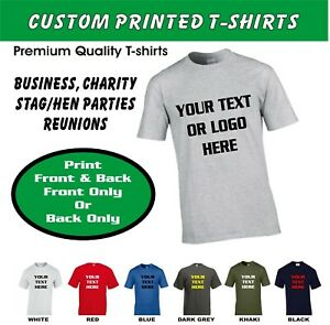 Personalised Custom Printed T Shirt Work Wear hen stag tees Name logo slogans