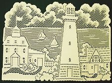 Lighthouse  Placemat 14x20 Ivory Set Of (4) Placemats Heritage Lace