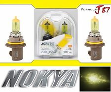 Nokya 2500K Yellow 9007 HB5 Nok7614 65/55W Two Bulbs Head Light Dual Beam OE Fit