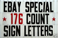 """New 8"""" Changeable Flexible Plastic Letters for Outdoor Portable Signs"""