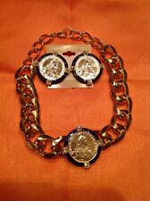 Coin Necklace And Earring Set
