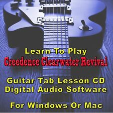 CCR Guitar Tab Lesson CD Software - 30 Songs